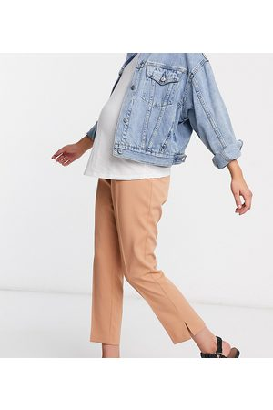 ASOS Mujer Con pinzas - ASOS DESIGN Maternity mix & match tailored cigarette suit trousers with over bump band