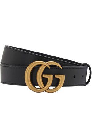 """Gucci Cinturón """"gg"""" De Piel Con Hebilla 3cm"""