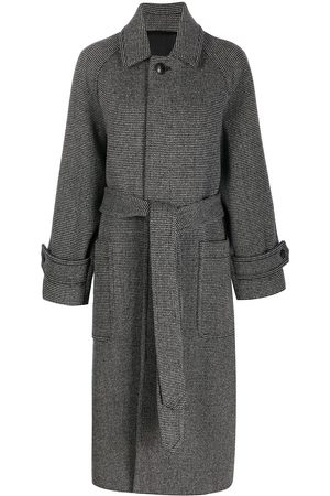 Ami Mujer Abrigos - Abrigo largo con cinturón