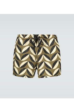 Commas Pavilion tile swim shorts
