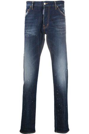 Dsquared2 Paint splatter straight-leg jeans