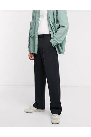 ASOS Wide leg smart trousers in black