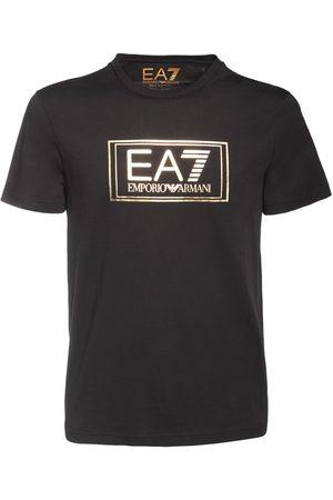 EA7 Camiseta De Jersey De Algodón Con Logo