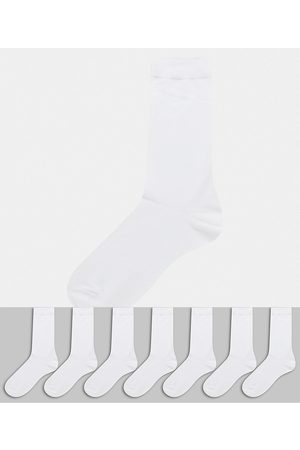 ASOS 7 pack ankle sock in white save