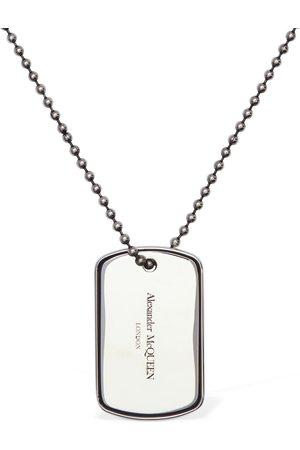 Alexander McQueen Collar Largo Con Placa De Identidad Con Logo
