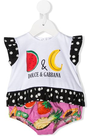 Dolce & Gabbana Romper con estampado de frutas