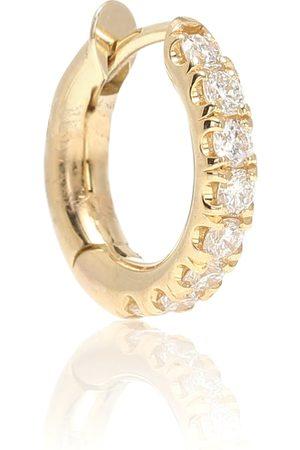 SPINELLI KILCOLLIN Mini Micro Hoop Pavé 18kt gold and diamond earring
