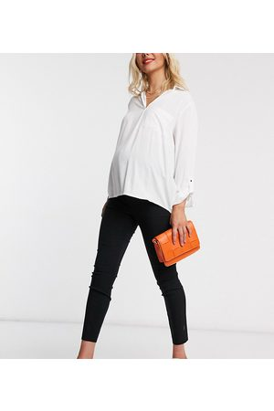 ASOS ASOS DESIGN Maternity over the bump high waist trousers in skinny fit