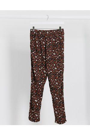 ASOS Jersey peg trouser in animal print