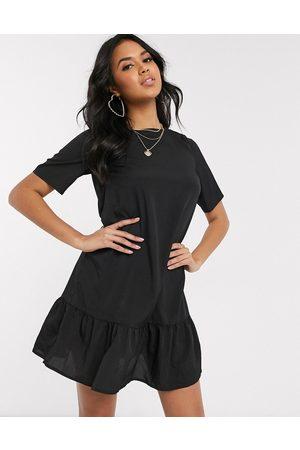 Ax Paris Drop hem smock dress in black