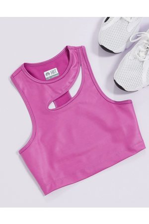 HIIT Cut out tank in purple