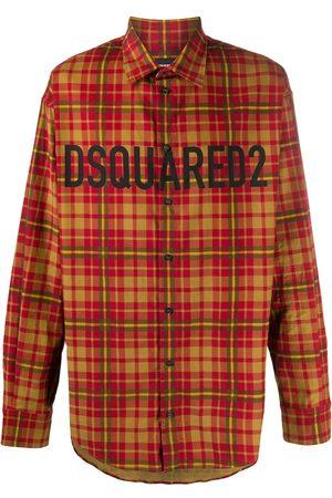 Dsquared2 Camisa a cuadros con logo estampado