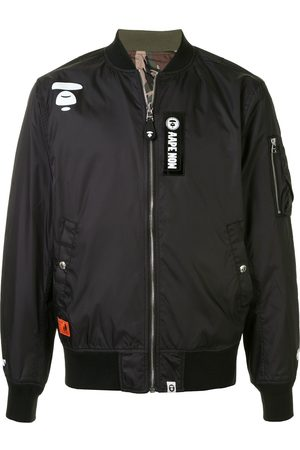 AAPE BY *A BATHING APE® Chamarra bomber con diseño patchwork