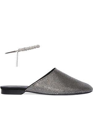 MAGDA BUTRYM Zapatos Mules De Ante Con Decoraciones 10mm