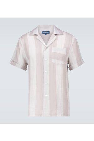 Frescobol Carioca Cabana linen camp-collar shirt