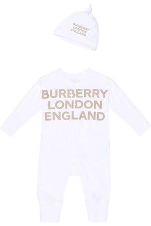 Burberry Baby Cleo cotton onesie and hat set