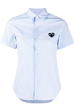 Comme des Garçons Logo striped short-sleeve shirt