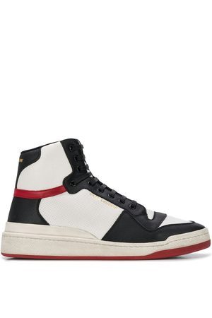 Saint Laurent Tenis altos con paneles