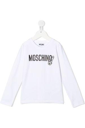 Moschino Camiseta con logo de manga larga