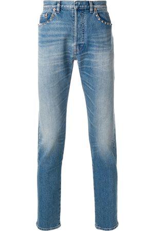 VALENTINO Jeans rectos con apliques Rockstud