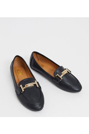 Raid Nidhi loafer with gold snaffle in black