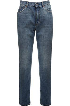 Gucci Hombre Jeans - Jeans De Denim De Algodón Con Detalle De Logo 20cm
