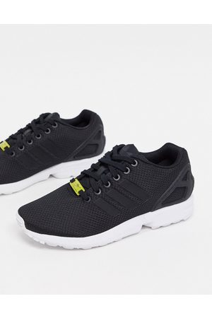 adidas ZX Flux trainers in Black and White