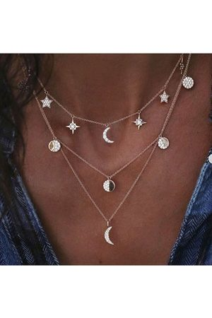 YOINS Graphic Moon Sun-shaped Casual Necklace