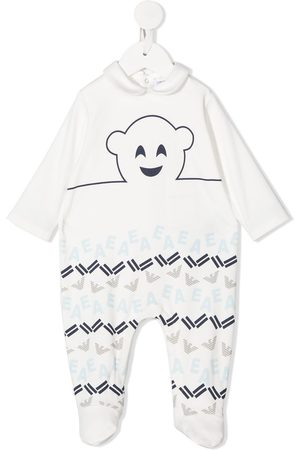 Emporio Armani All-over logo babygrow