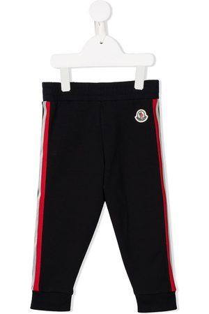 Moncler Pantalones de chándal con logo bordado