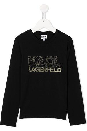 Karl Lagerfeld Sudadera con logo de purpurina