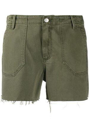 Paige Mujer De mezclilla - Shorts de mezclilla con dobladillo deshilachado