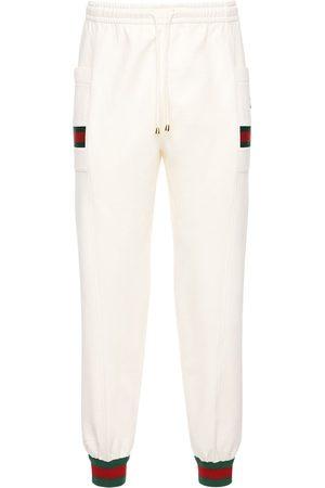 Gucci Pantalones Deportivos De Alhodón Con Parche Gg