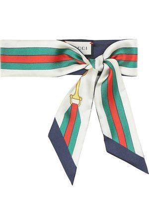 Gucci Interlocking G Horsebit silk-twill scarf