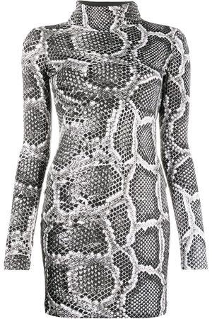 Roberto Cavalli Vestido ajustado con efecto de piel de serpiente