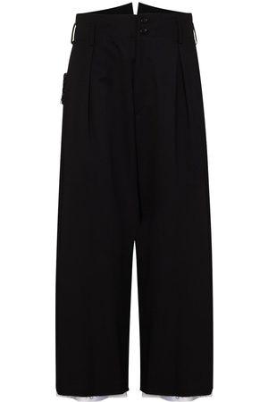 Sulvam Garbadine wool cropped trousers