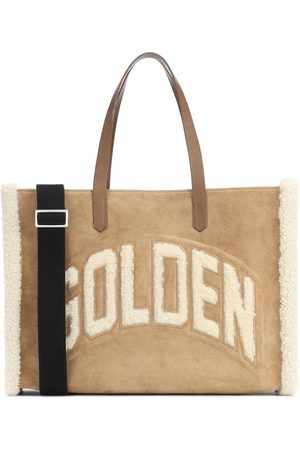 Golden Goose California shearling and suede tote
