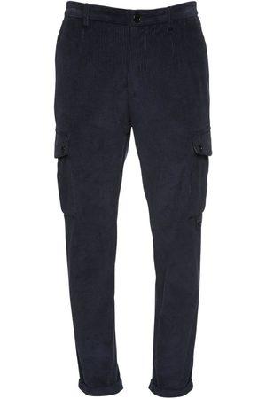 Dolce & Gabbana Pantalones Cargo De Terciopelo De Algodón