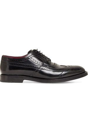 Dolce & Gabbana Zapatos Derby De Piel Con Cordones 30mm