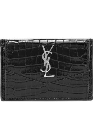 Saint Laurent Uptown leather card case
