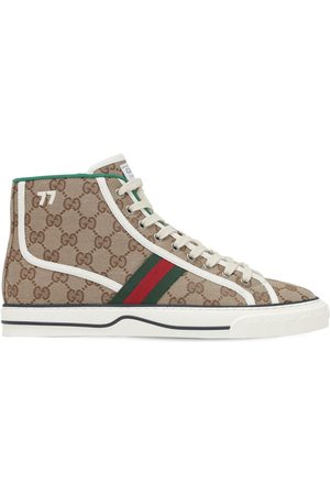 "Gucci Sneakers ""tennis 1977"" De Lona Con Logo Gg"