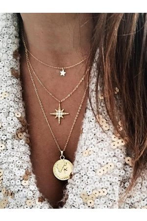 YOINS Gold Star Coin Multi-layer Necklace