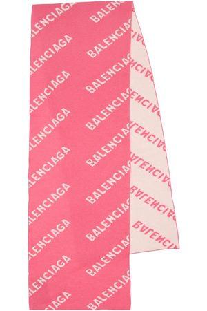 Balenciaga Bufanda De Lana Con Logo Jacquard
