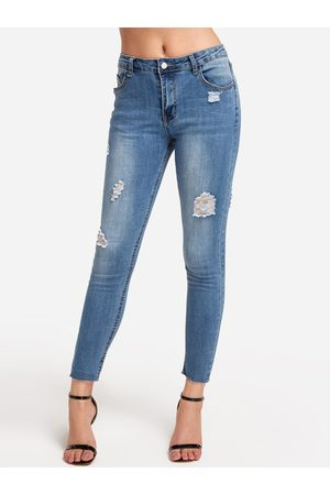 YOINS Light Ripped Bodycon Long Jeans