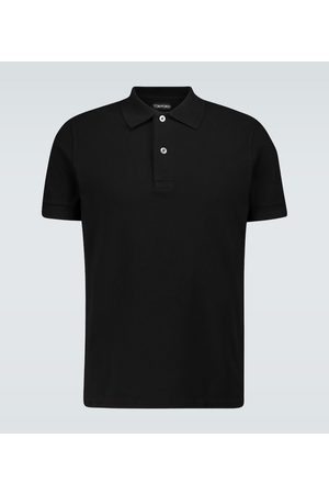Tom Ford Short-sleeved cotton polo shirt