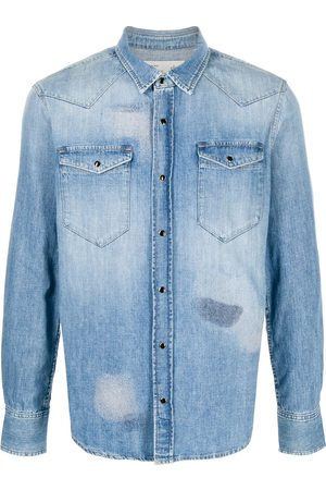 ELEVENTY Faded denim shirt