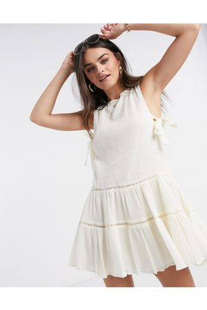 ASOS Tiered mini smock sundress with open back