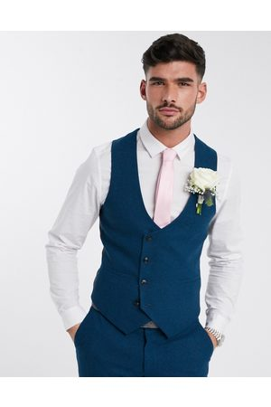 Harry Brown Slim fit wedding summer tweed suit waistcoat