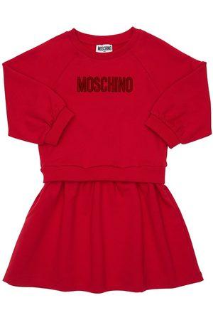 Moschino Vestido De Algodón Con Logo