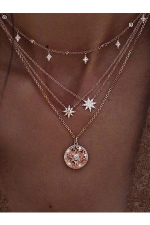 YOINS Graphic Starlight Multi-layer Necklace
